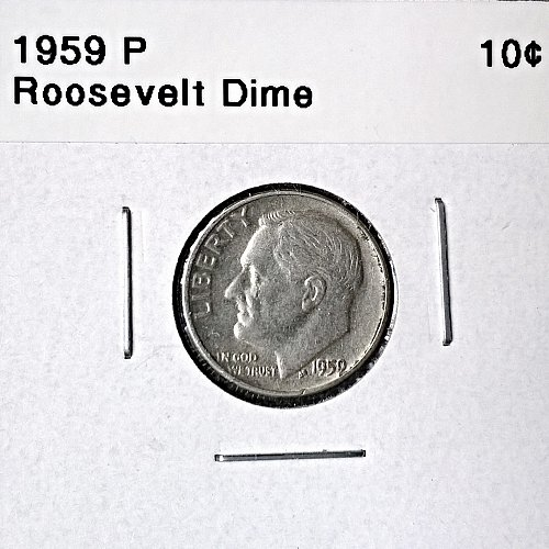 1959 P Roosevelt Dime - 6 Photos!