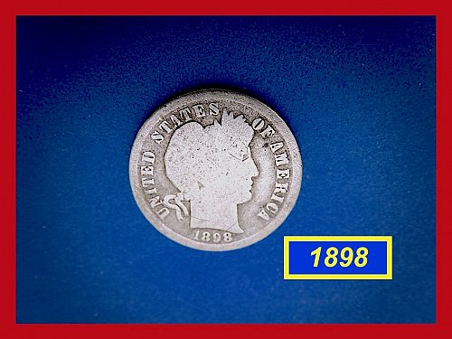 1898-P   BARBER DIME ☆  CIRCULATED ☆    (#3680)a