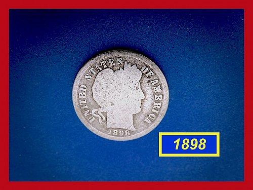 1898-P   BARBER DIME ☆  CIRCULATED ☆    (#3680)a