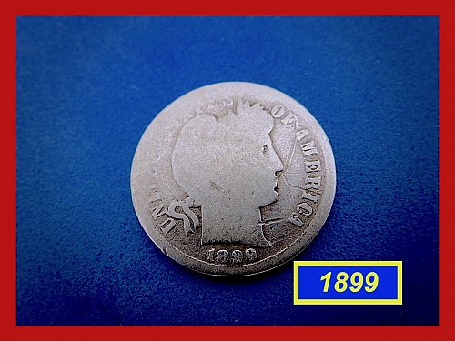 1899-P   BARBER DIME ☆  CIRCULATED ☆    (#3683)a