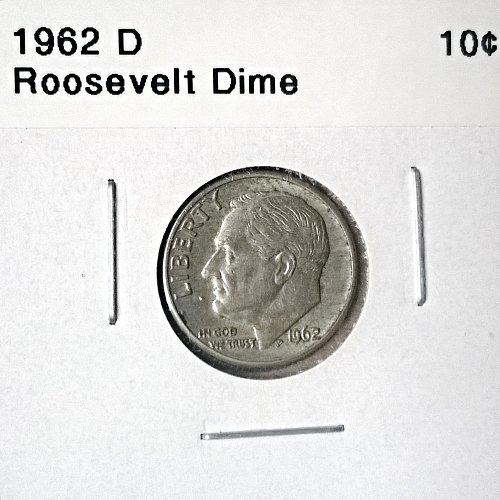 1962 D Roosevelt Dime - 6 Photos!
