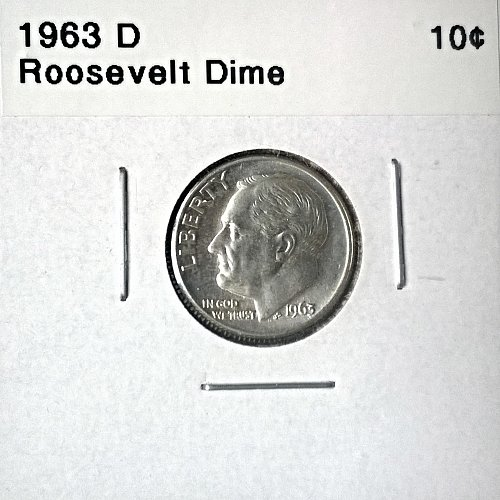 1963 D Roosevelt Dime - 6 Photos!