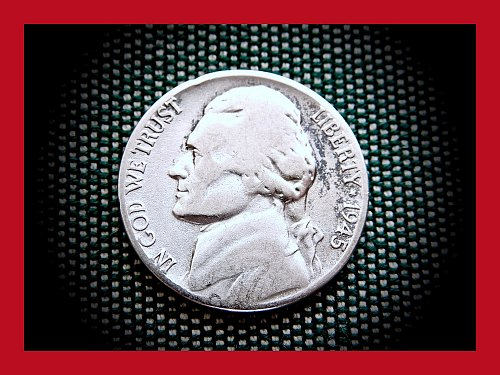 1945-S SILVER WAR NICKEL    (#6294)