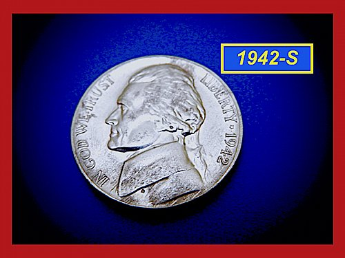 1942-S SILVER WAR NICKEL    (#6418)a