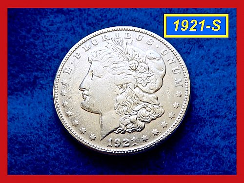 "1921-S Morgan Silver Dollar ★  ""AU"" Condition  ★  (#5410aa)a"
