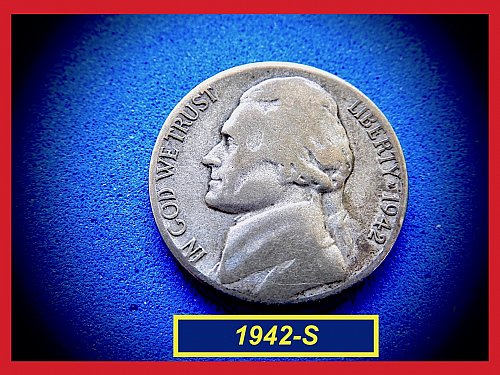 1942-S SILVER WAR NICKEL    (#6436)a