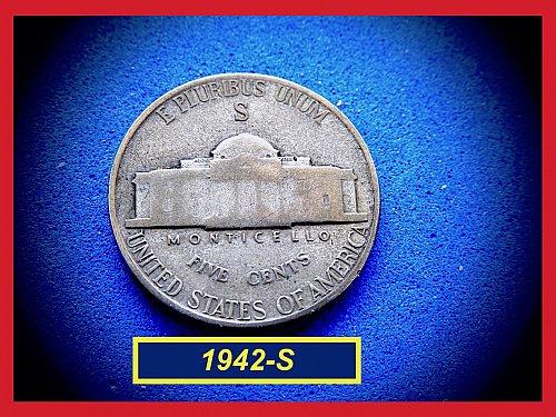 1942-S SILVER WAR NICKEL    (#6436)a
