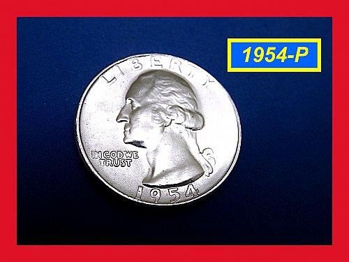 """1954 Quarter  ☆ """"UNC"""" CONDITION ☆   (#2803a)a"""