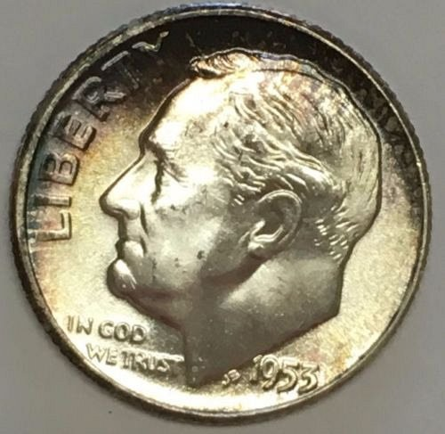Beautiful 1953 unc silver dime
