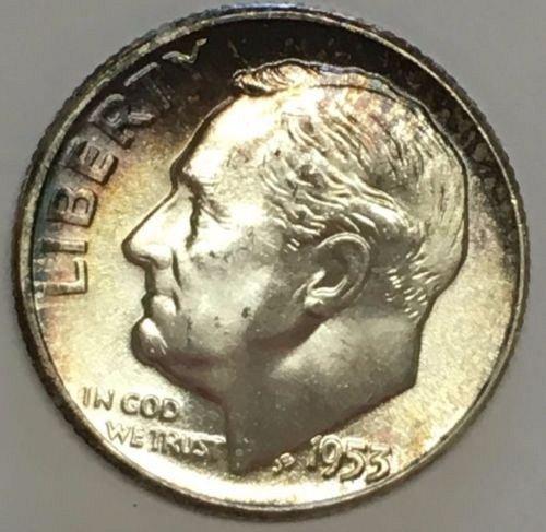 Beautiful 1953 unc silver dime