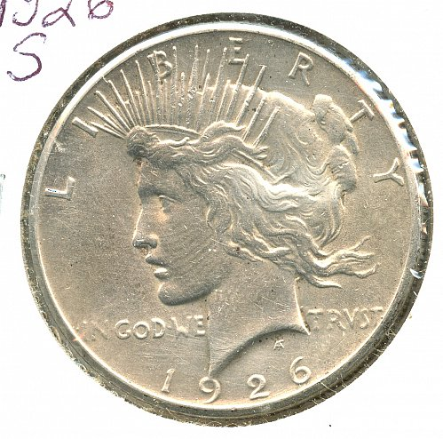 1926 S Peace Silver Dollar San Francisco