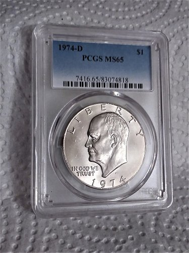 1974-D Ike PCGS MS 65--Real white and lustrous good strike