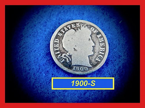 1900-S   BARBER DIME ☆  CIRCULATED ☆    (#3691)a
