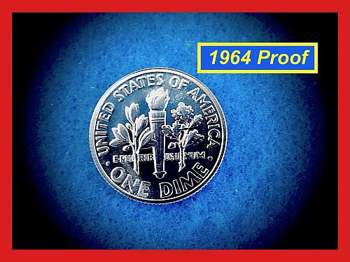 1964 PROOF Dime  ☆   (#3690)a