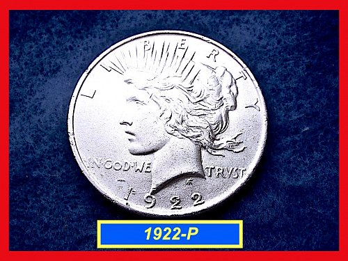 "1922-P  PEACE Dollar ☆ ""XF-AU"" ☆  (#2352)a"