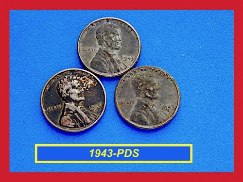 1943-PDS ☆ Steel Penny Set  ☆  Circulated (#7204)a