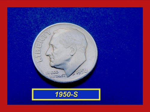 1950-S Roosevelt Dime  ✬ Circulated  Condition ★  (#3558)a