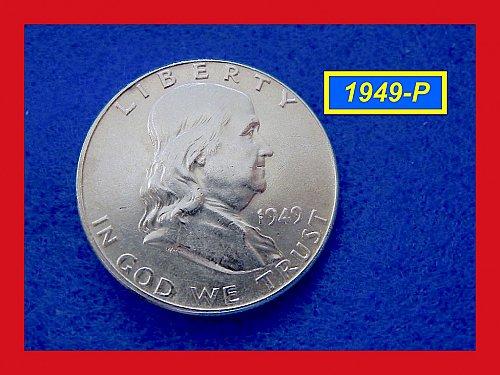 """1949-P Franklin ★ GRADE: """"AU-58"""" ★  (#1661)a"""