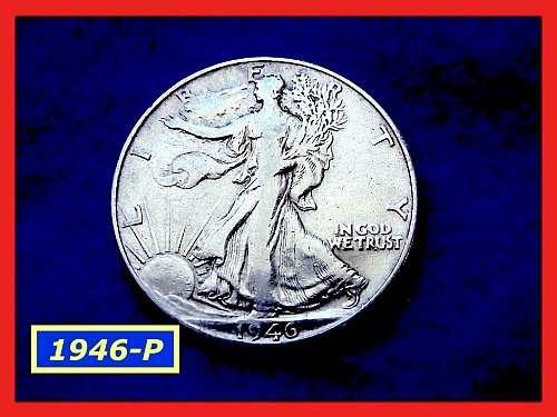 "1946-P  Liberty Walking Half  ★ ""VF-35""   (#1631)a"