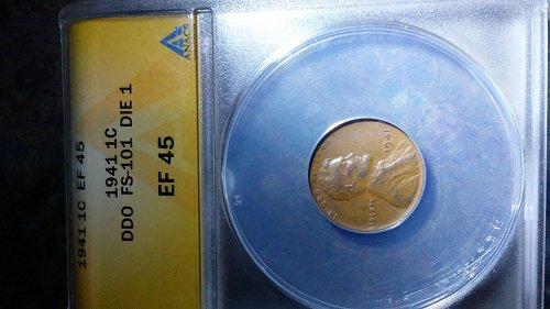 1941 ddo fs-101 die 1 error penny