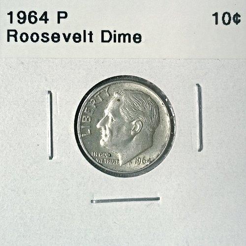1964 P Roosevelt Dime - 6 Photos!