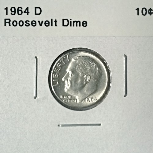 1964 D Roosevelt Dime - 6 Photos!
