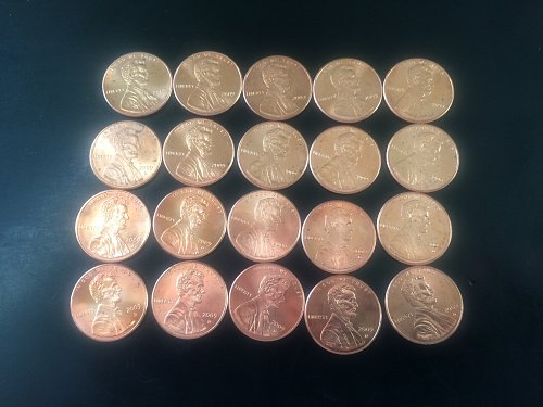 2009 LINCOLN PENNIES (52 COINS)