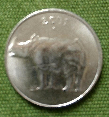 2001..Rhino India circulated coin