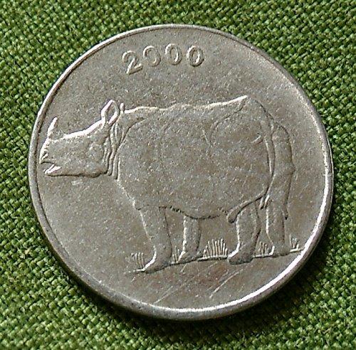 2000...Rhino India circulated coin