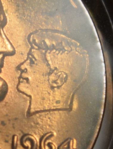 1964 Lincoln - JFK Tribute Cent - NICE Red BU Details