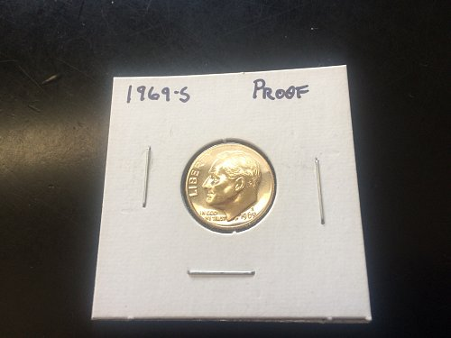 1969 S ROOSEVELT DIME PROOF