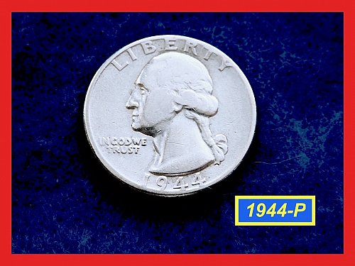 "1944-P   Washington Quarter ✬ ""VF-20""   ✬★  (#2811)a"