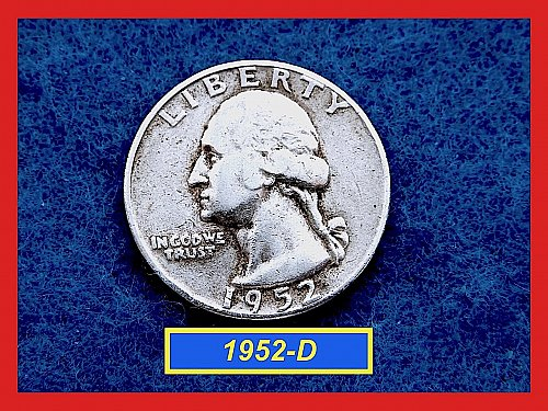"1952-D   Washington Quarter ✬ ""VF-25""   ✬★  (#2817)a"
