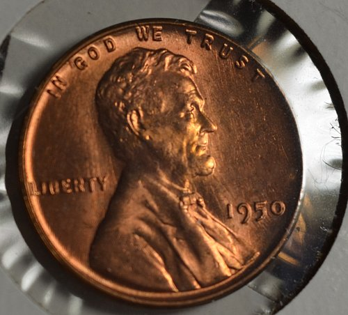 1950 Lincoln Wheat Cent - Red BU