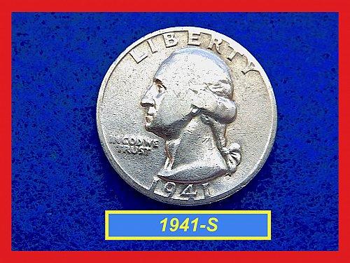 1941-S  Washington  Quarter • Circulated • 90% Silver  (#2829)