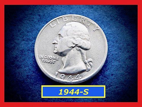 1944-S Washington  Quarter • Circulated • 90% Silver  (#2832)