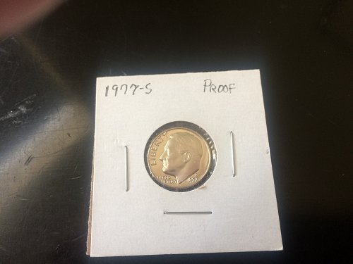 1977 S ROOSEVELT DIME GEM PROOF