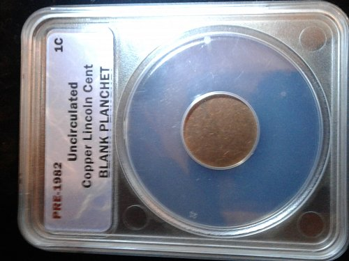 Pre order 1982 penny blank planchet