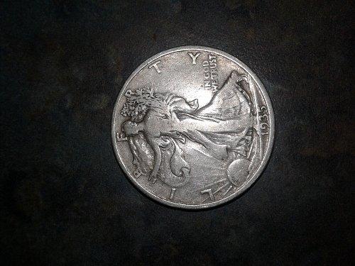 1935 silver walking half dollar
