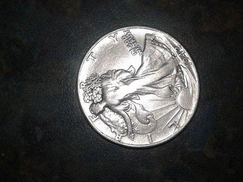 1942-p silver walking half dollar