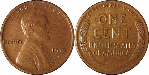 """1912 D 1 Cent """"Lincoln - Wheat Ears Reverse""""   #0047"""