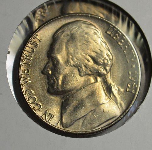 1961 Jefferson Nickel BU