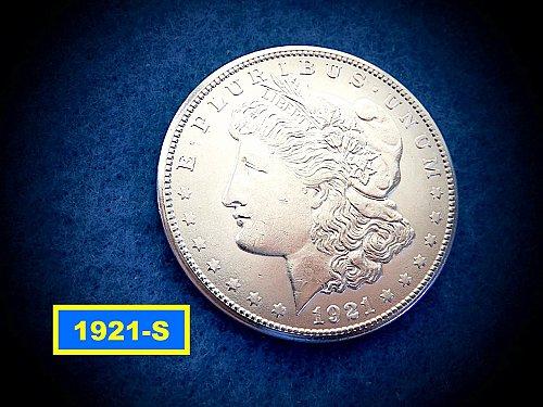 """1921-S Morgan Silver Dollar  ☆  """"AU-58""""   ☆ (#5415)a"""