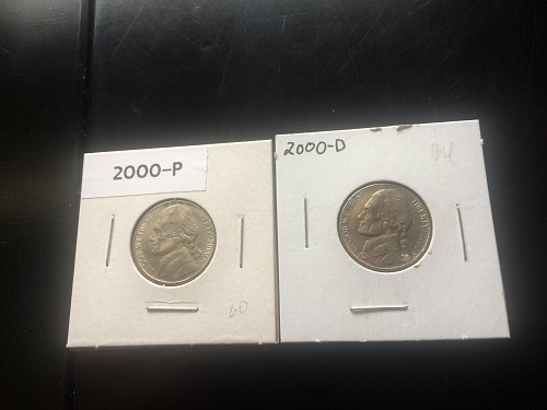 2000 P&D JEFFERSON NICKEL,