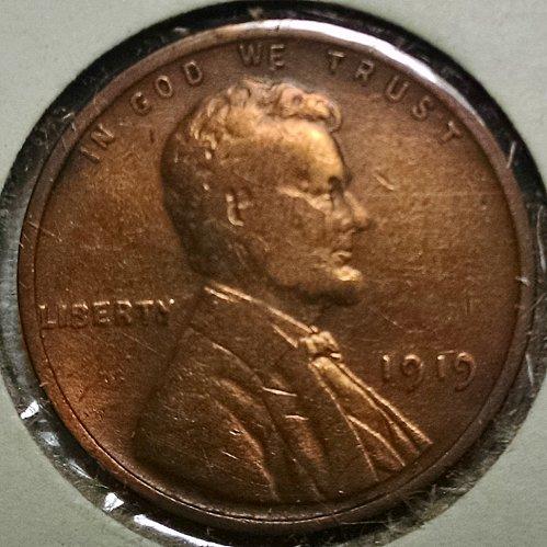 1919 P Lincoln Wheat Cent