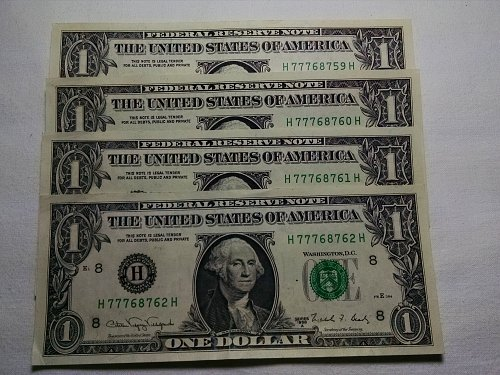 $1 Federal Reserve Note 1988A