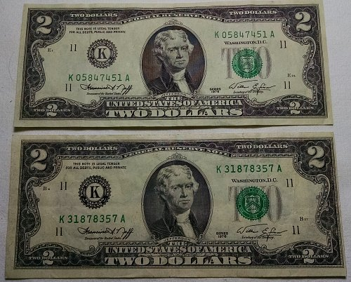 $2 Federal Reserve Notes 1976