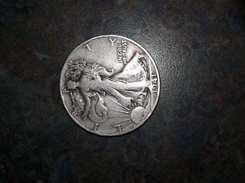 1941-d silver walking half dollar #2