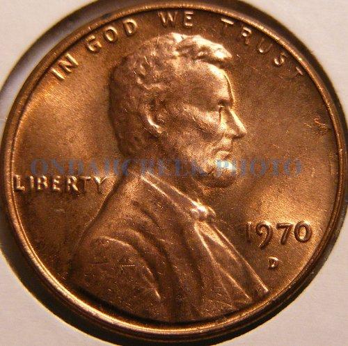 1970-D Lincoln Cent Spiked Head Die Break Mint Error Choice BU