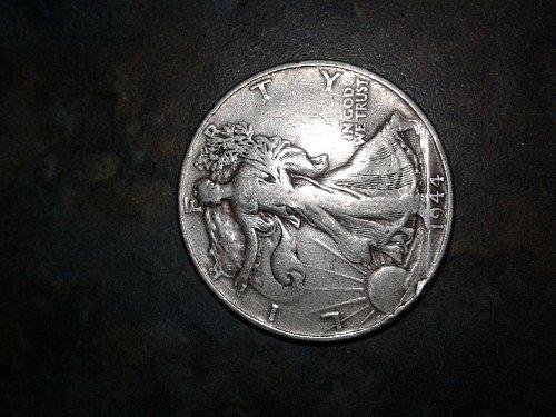 1944-p walking half dollar #41